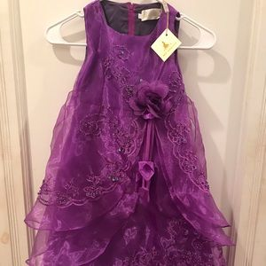 H G Princess formal dress size 4T or 110.  NWT